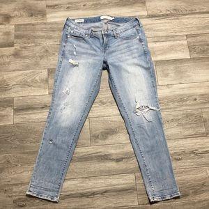 Torrid boyfriend light wash distressed denim jeans